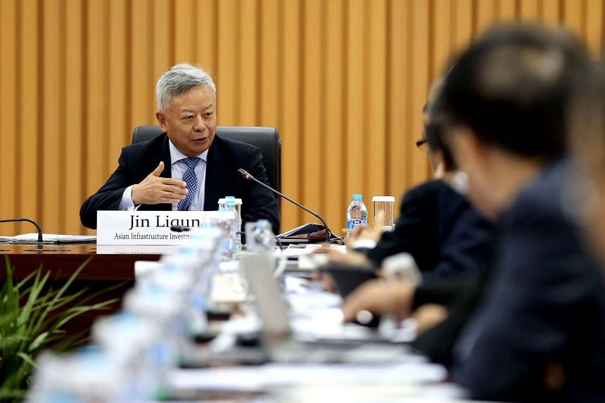 Jin Liqun, president of the Asian Infrastructure Investment Bank, speaks at the annual board meeting of the Asia News Network held in Beijing, on May 31, 2016.