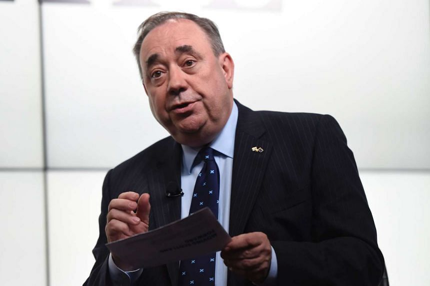 Scottish National Party MP Alex Salmond takes part in a debate on the EU referendum in London on June 14, 2016.