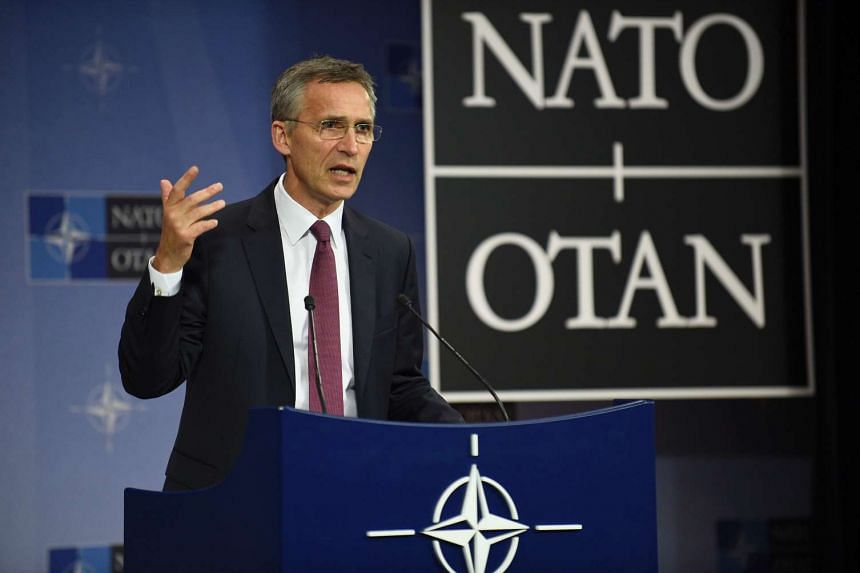 Nato secretary-general Jens Stoltenberg speaks at a press confenrence at its headquarters in Brussels, on June 15, 2016.