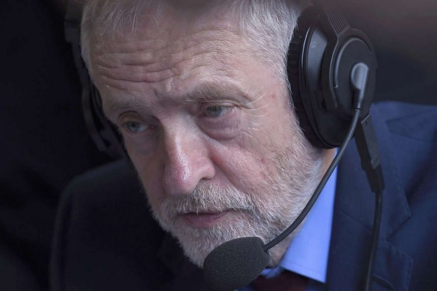 Britain's opposition Labour party leader Jeremy Corbyn speaks during a media interview on Abingdon Green, central London, on June 24, 2016.