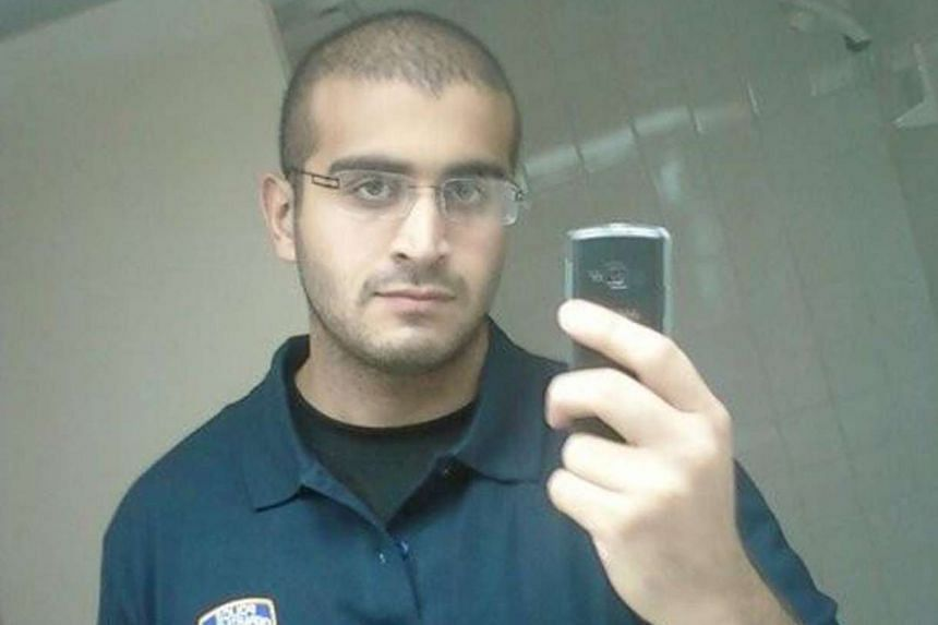 Mateen (above) has been buried at a Muslim cemetery in southern Florida, media reported.