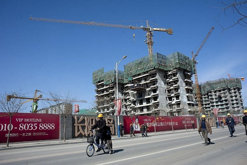 A Vanke construction project in Beijing. The developer has been embroiled in a tussle for control since last year, when an obscure conglomerate, Baoneng, replaced China Resources as the homebuilder's largest shareholder.