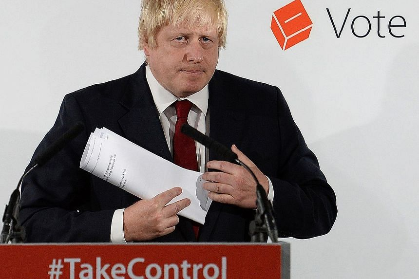 Ex-London mayor Boris Johnson (above) is the favourite to succeed Mr Cameron as PM. The other leading contenders, say bookmakers, are Home Secretary Theresa May and Justice Secretary Michael Gove. Mr Cameron expressed no regret for calling the refere