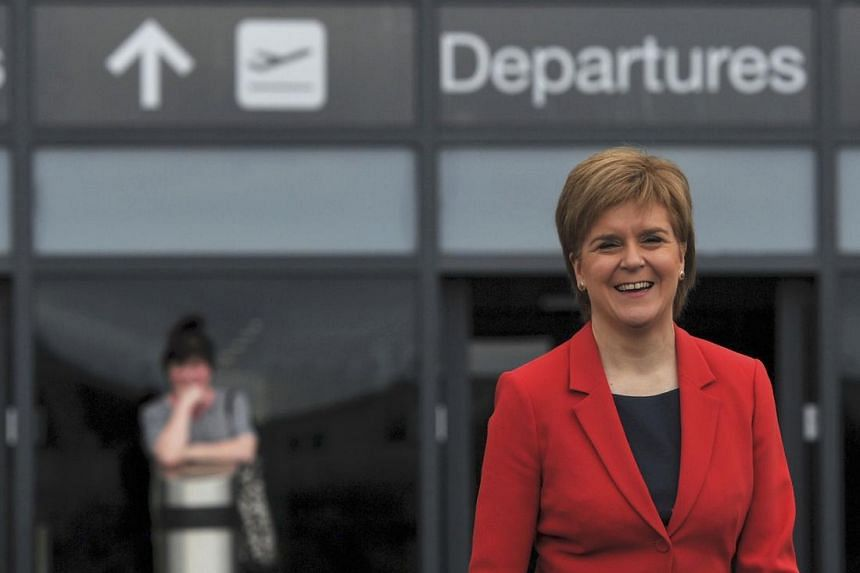 Scottish First Minister Nicola Sturgeon during a EU referendum remain event at Edinburgh airport on June 22.