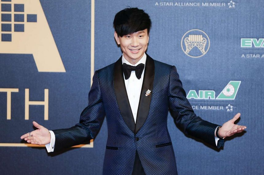 JJ Lin arrives for the 27th Golden Melody Awards in Taipei, Taiwan on June 25, 2016.