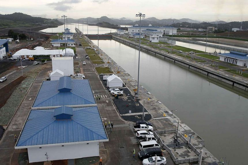 A view of the Panama canal prior to the inauguration of the expanded sectors in Panama City on June 24, 2016.