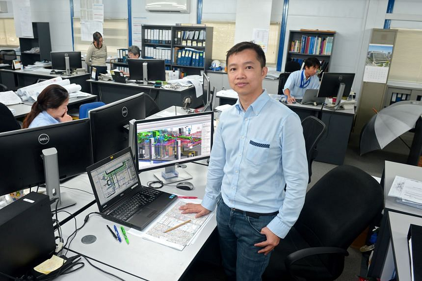 Mr Gan Chee Meng, a BIM manager at Shimizu, has to deal with more dimensions now as compared with in the past, when he dealt simply with lines and angles in 2D drafting software.