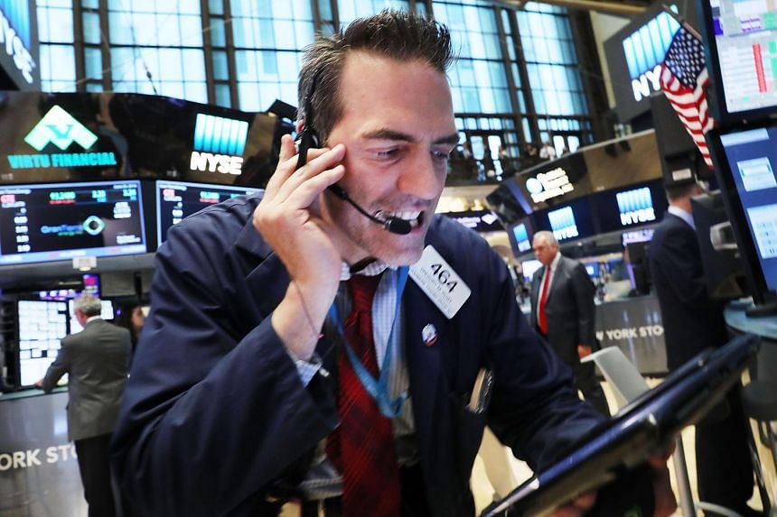 Traders on the floor of the New York Stock Exchange following news of Britain's EU referendum result on June 24.