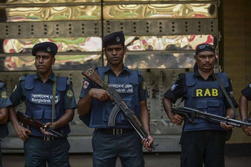 Bangladesh police have arrested a man suspected of murdering the wife of an anti-terrorism police officer, on June 25, 2016.