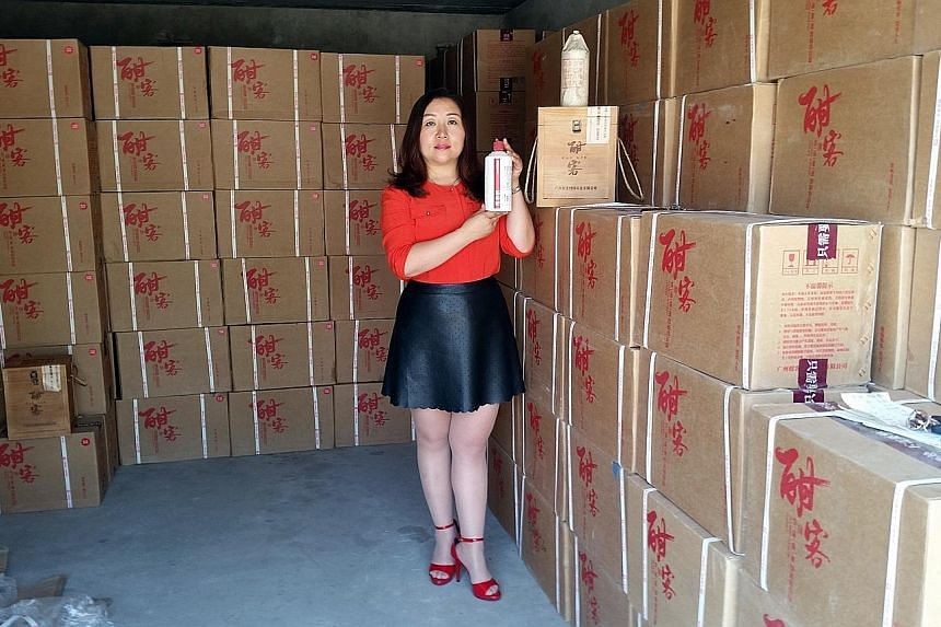 Ms Wei Haixia paid 480,000 yuan for 2,400 bottles of baijiu after learning that baijiu can appreciate in price as its flavours evolve.