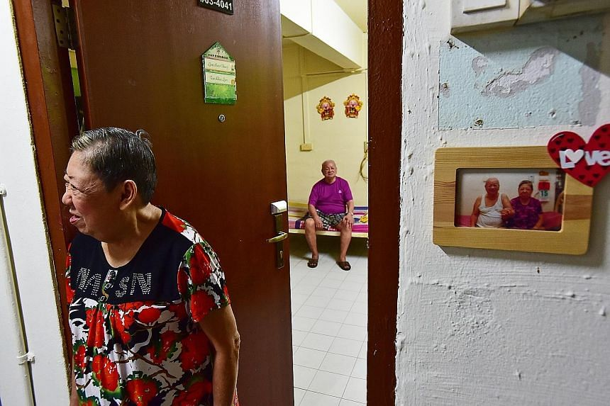Madam Tan and Mr Lim are among four couples who have met and married at the AWWA Senior Community Home. The retired odd-job workers fell in love while at the home and were married in 2009. In the seven years of living together, they have hardly quarr