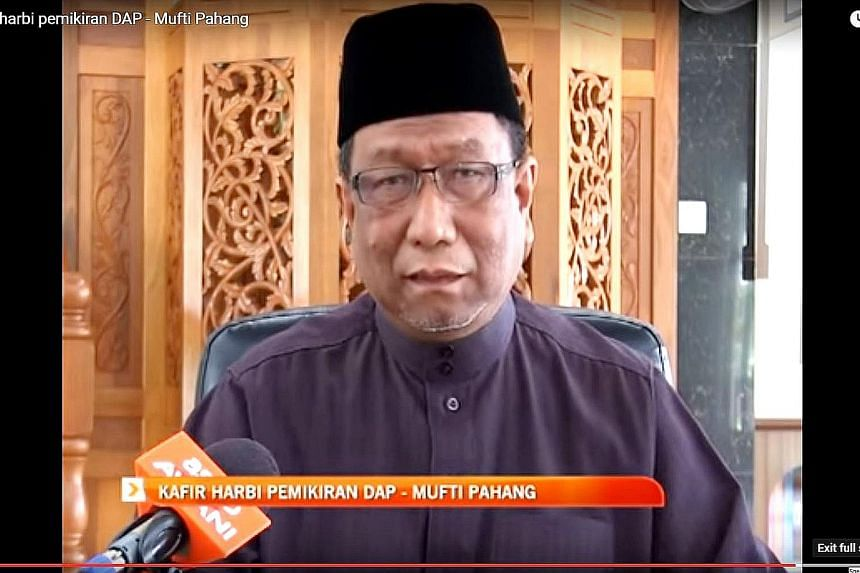 "Mufti Abdul Rahman Osman says the Chinese-based Democratic Action Party is ""kafir harbi"", or non-Muslims who have waged war against Islam and for whom the death penalty is justified."