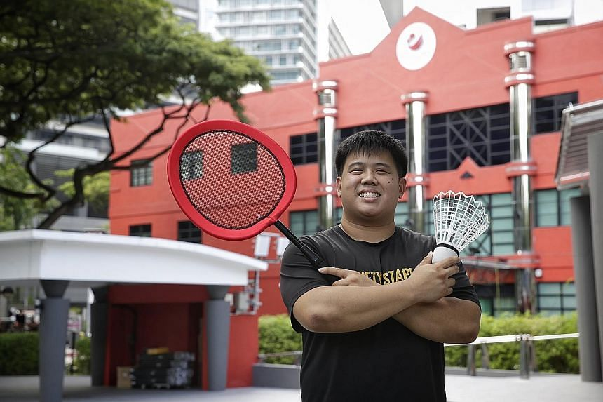 Ryan Ng, organiser of the Singapore Giant Games Festival, hopes the larger sports equipment used in his event can encouraged disabled people to be more active in sports. His event will be be held on Aug 6 and 7 as part of the GetActive! Singapore wee