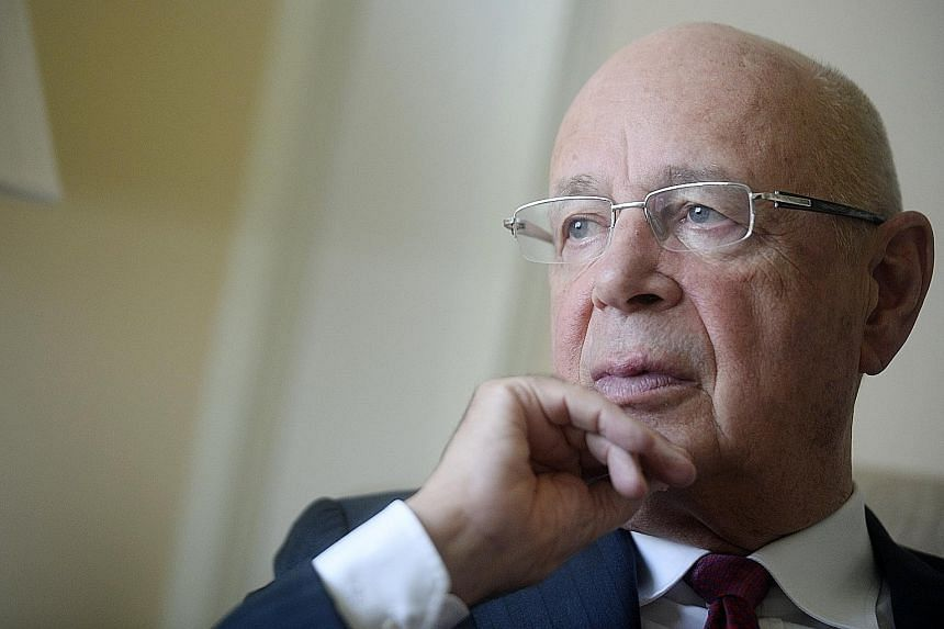 """Prof Schwab says that by bringing business, civil society and governments together, """"you have a different form of dialogue""""."""