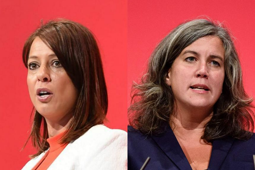 """Ms Gloria de Piero (left) and Ms Heidi Alexander were among those who had withdrawn their support and stepped down from Jeremy Corbyn's """"shadow cabinet""""."""