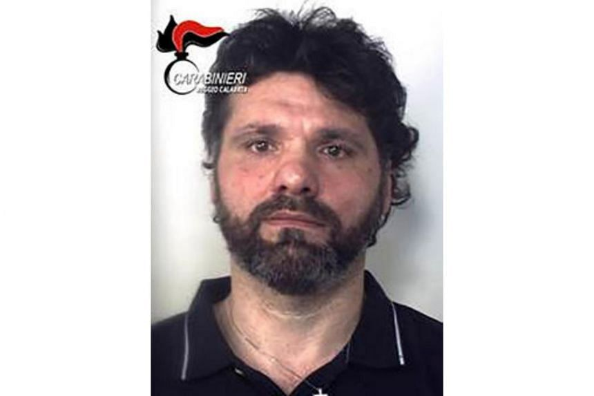 An handout picture released by the Italian Carabinieri press office shows Ernesto Fazzalari, one of Italy's most wanted mafia bosses who was arrested after two decades on the run, fleeing a life sentence for murder.