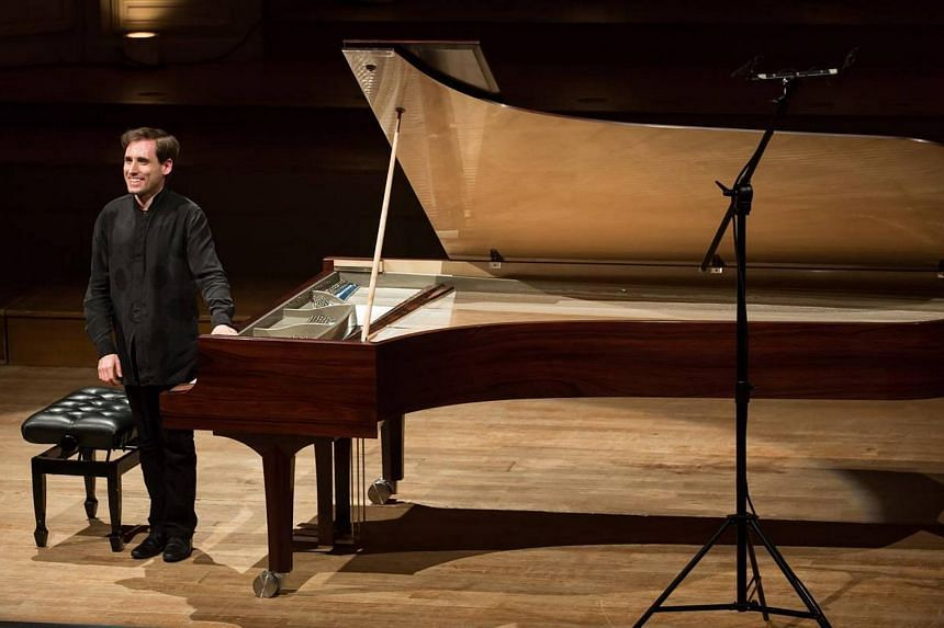 Russia-born pianist Boris Giltburg seen at a concert at Salle Gaveau in Paris, France, on June 4.