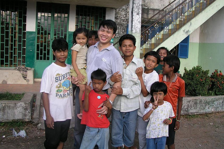 In his mid-20s, Mr Tang went on humanitarian trips to Cambodia, organising summer camps and distributing essential items to the poor.