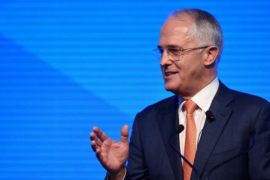 Australian Prime Minister and Leader of the Liberal Party Malcolm Turnbull gestures as he speaks at the Coalition Campaign Launch in Sydney, Australia.