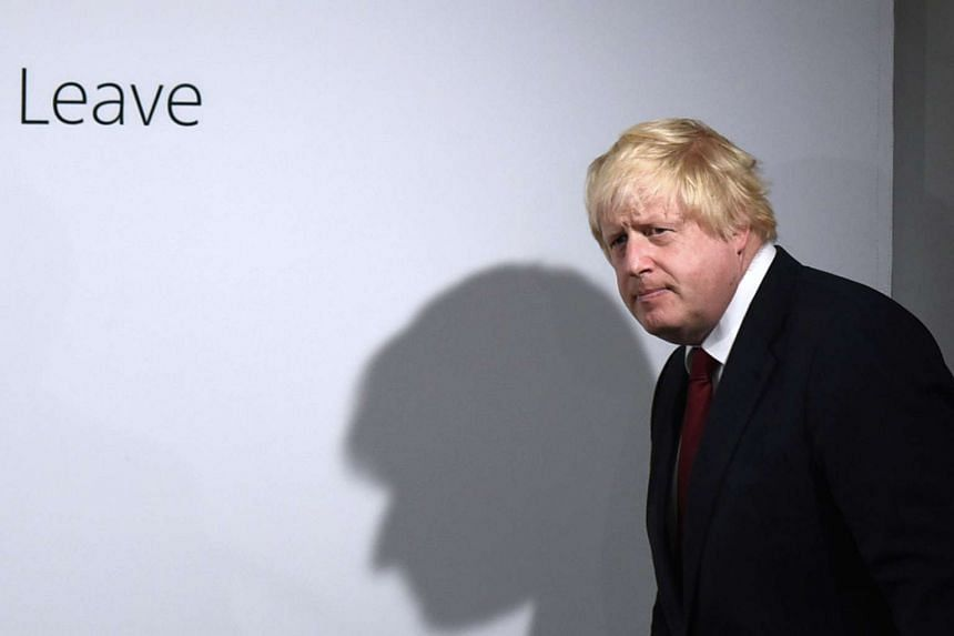 "Former London Mayor and ""Vote Leave"" campaigner Boris Johnson attends a press conference in central London on June 24, 2016."