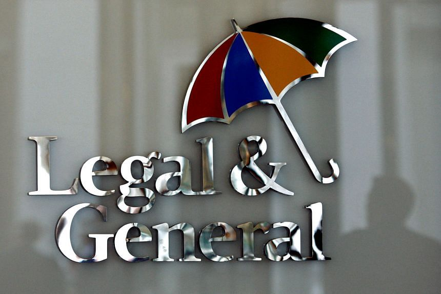 The logo of Legal & General insurance company at their office in London on March 17, 2016.
