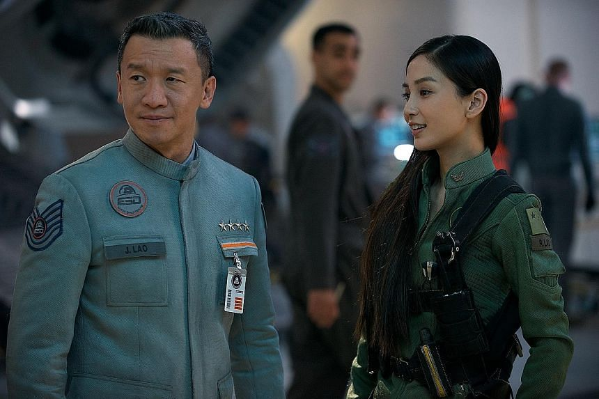 Chin Han (with co-star Angelababy) plays a Chinese space squadron leader in Independence Day: Resurgence.