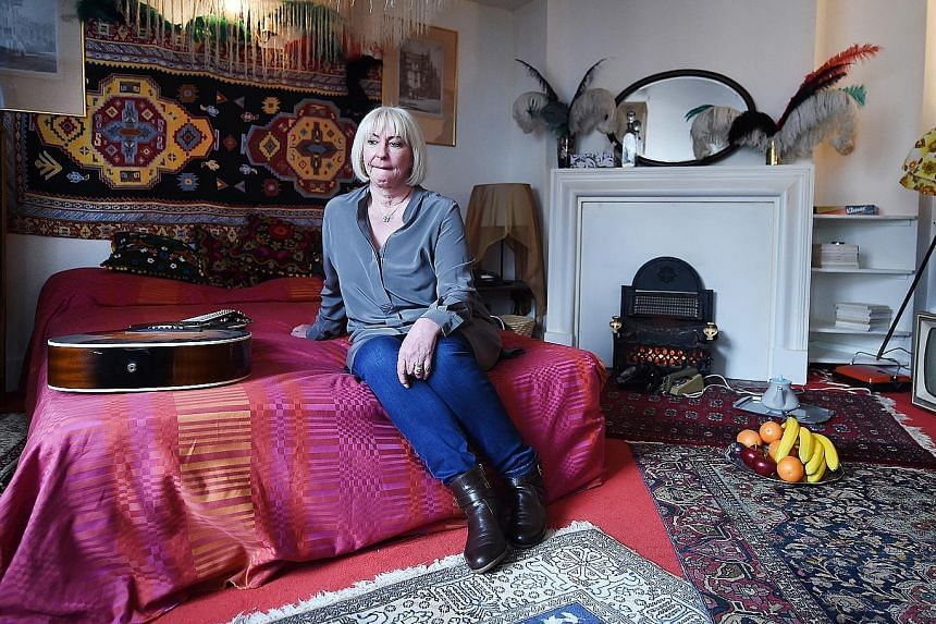 Kathy Etchingham, Jimi Hendrix's former girlfriend, in the flat she once shared with the US guitarist in London.