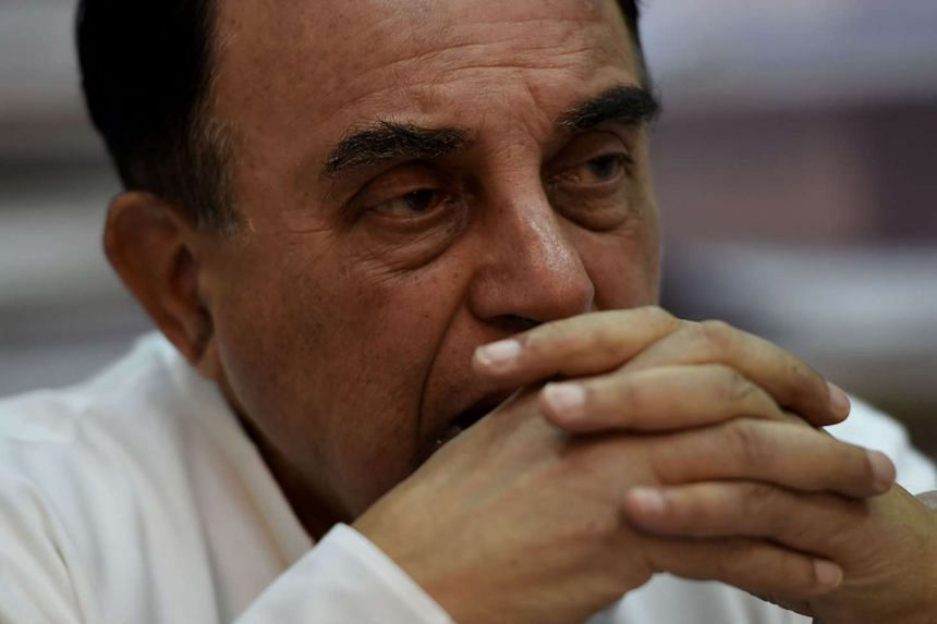 Mr Subramanian Swamy (above), a lawmaker from Mr Modi's ruling Bharatiya Janata Party, had led a public campaign against central bank chief Raghuram Rajan.