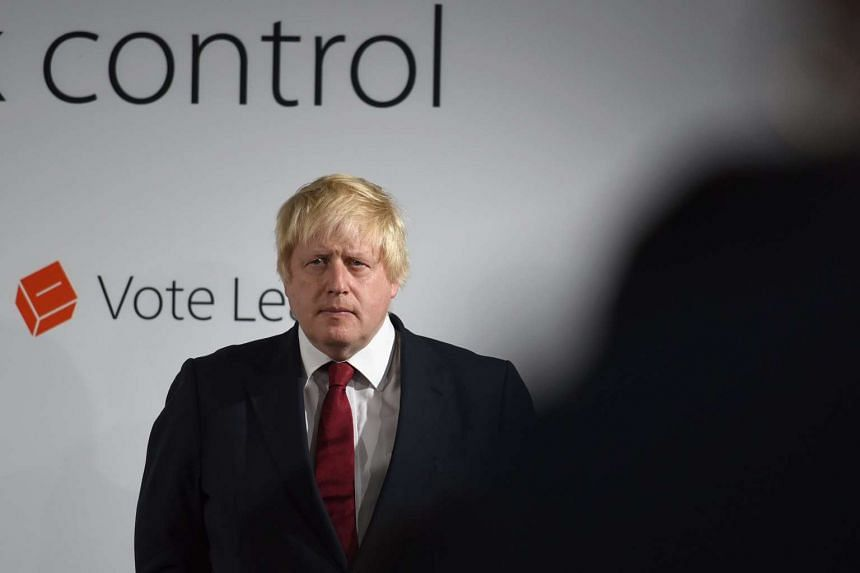 Boris Johnson addresses the media after their Vote Leave campaign won the United Kingdom's EU referendum, in London on June 24, 2016.