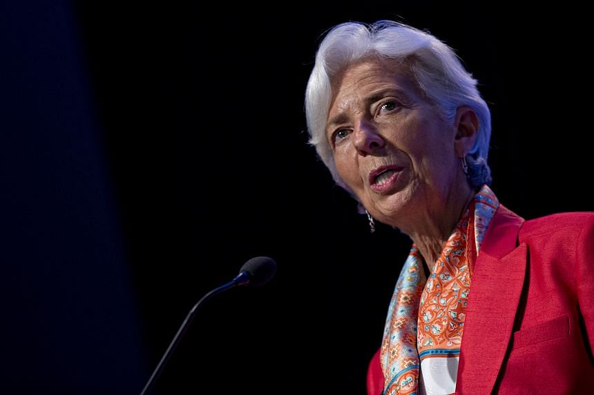 Ms Christine Lagarde, IMF managing director, speaks at the IMF in Washington, DC on June 24.