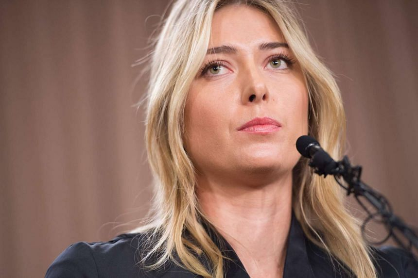 Russian tennis player Maria Sharapova speaks during a press conference in Los Angeles, on March 7, 2016.