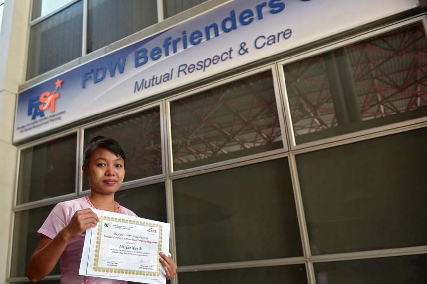 Ms Nwe Nwe Oo, recipient of a scholarship from Fast, who will begin classes from July 10.