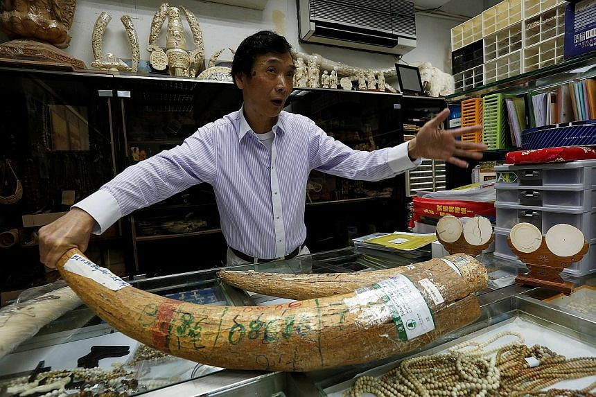 Mr Chan, an ivory trader, says the total industry loss from the ban would be around $175 million. At the moment, ivory sales are still legal in Hong Kong as traders say their products are from a stockpile imported before the 1990 ban on international