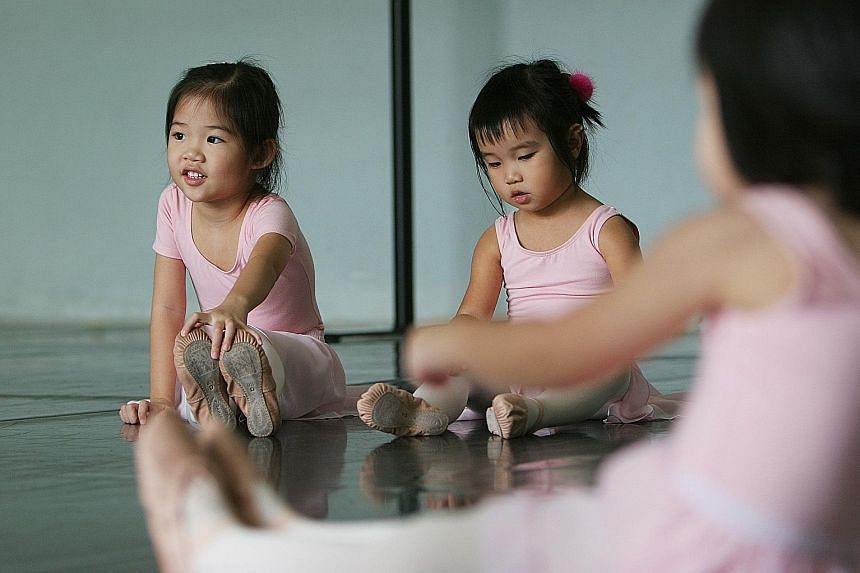 The writer wonders whether pushing a child to be master of the academic domain plus a just-in-case discretionary admission talent domain, such as ballet (above), is too much for a five-year-old. This, he fears, may be the unintended consequence of th