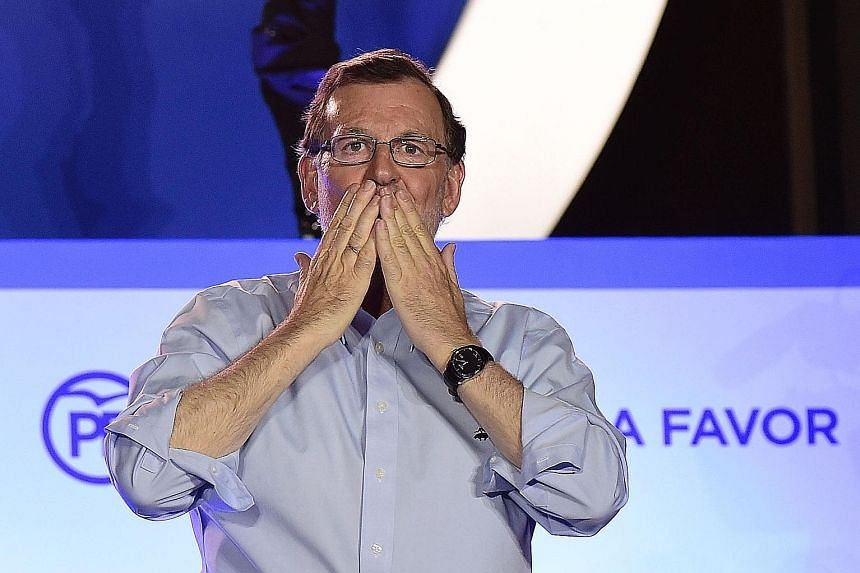 Acting Prime Minister Rajoy's Popular Party won 14 more seats in Sunday's election compared with December's polls but will need to court smaller parties to form a coalition or minority government.