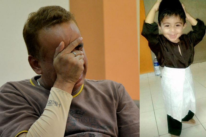 Mr Mohamad Nasser Abdul Gani was reduced to tears when he learnt of his two-year-old son Daniel's death from abuse.