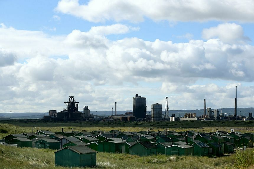 A general view of the closed down steelworks in Redcar, north-east England.