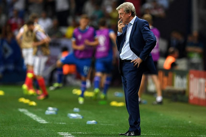 Roy Hodgson looks on during Euro 2016 round of 16 football match between England and Iceland.