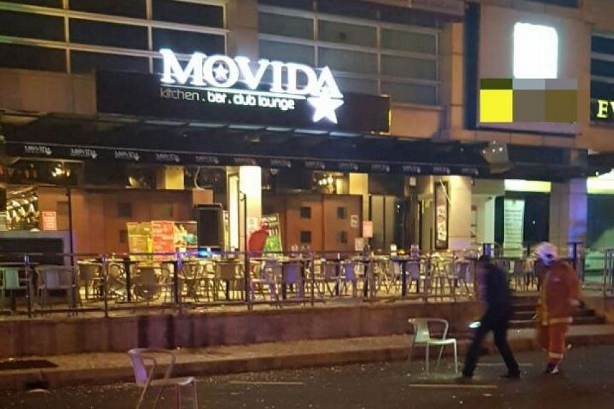 The explosion occurred at the front porch of a nightspot in IOI Boulevard.