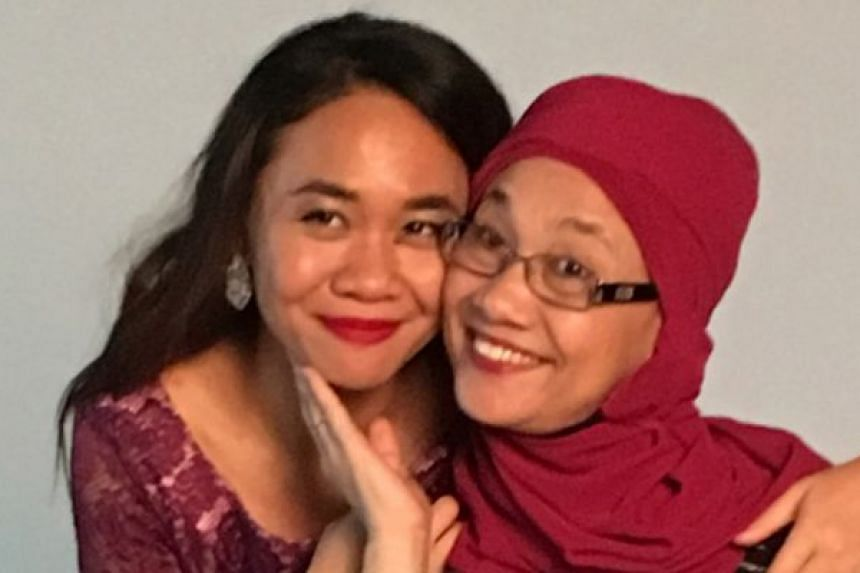 Miss Iffah Suhaila Mohamed Ali with her mother, Madam Razni Hassan.