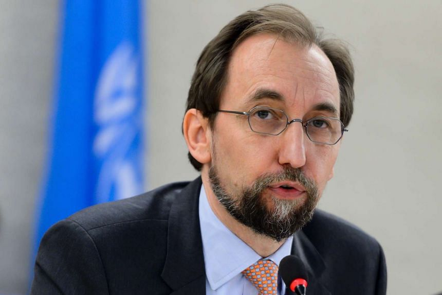 United Nations High Commissioner for Human Rights Zeid Ra'ad Al Hussein delivers a speech at the opening of a new Council's session on June 13, 2016.