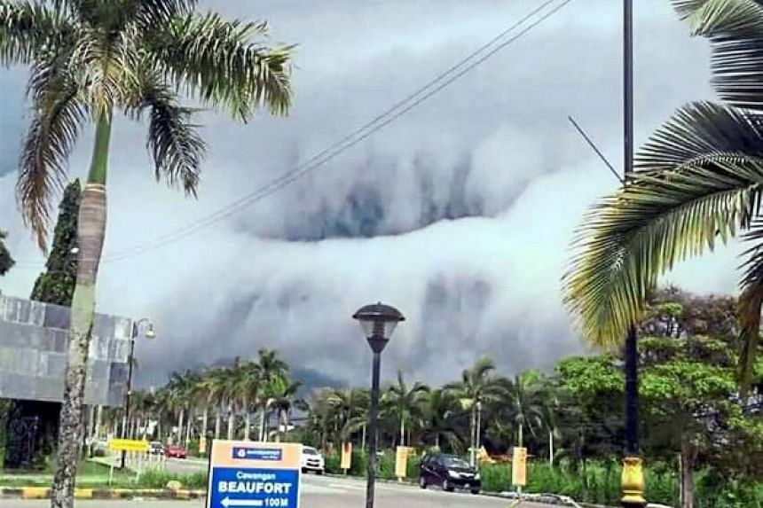 The cumulonimbus clouds seen forming above Beaufort town.