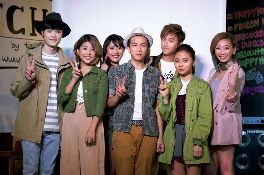The cast of Innamorati Two, which centres around a barter shop where seven people meet by chance.