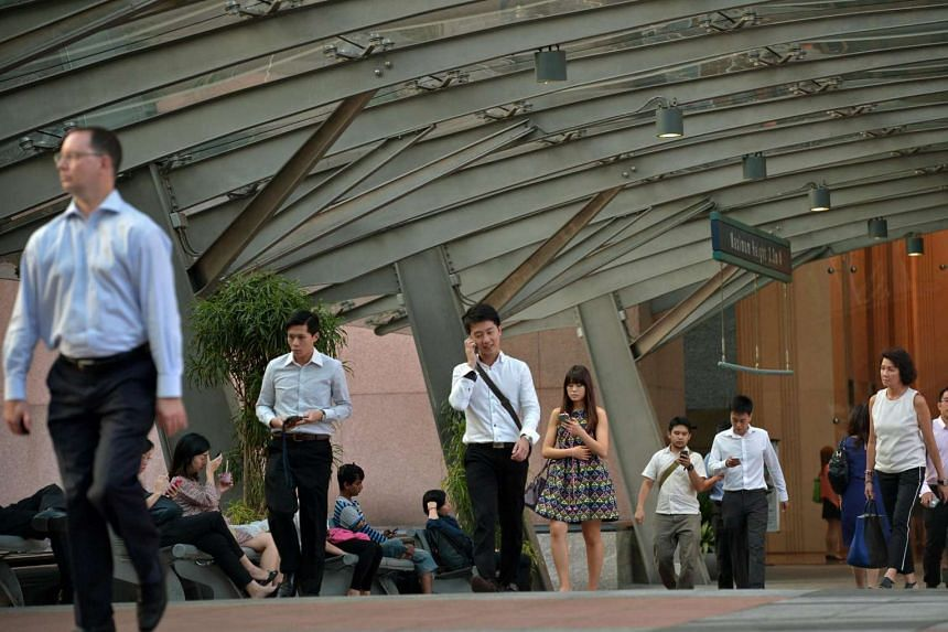 Office workers in the Central Business District (CBD).