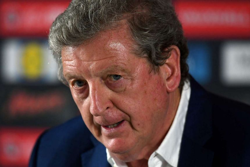 Roy Hodgson addresses a press conference on June 28, 2016, after his resignation.