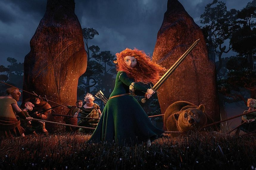 Disney was hit with a petition in 2013 when it issued a redesigned, sexualised version of Scottish princess Merida (above) for Brave.