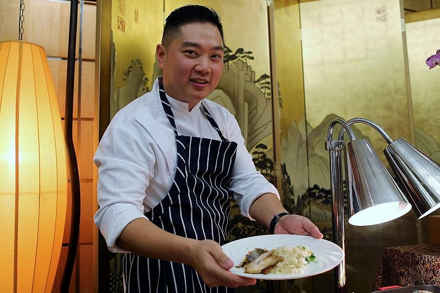 Pan Pacific Singapore executive sous chef Elson Cheong presenting one of the dishes that will be served at the Rio de Janeiro Olympics for Team Singapore. Team Singapore sailor Jovina Choo welcomes the concept of Singapore House as it will give her t