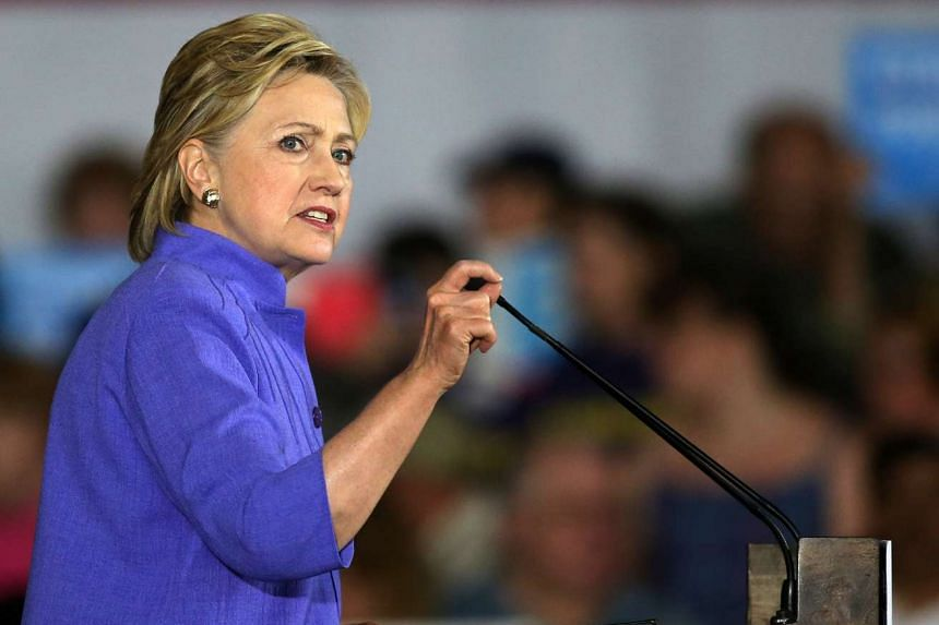Hillary Clinton speaking at a campaign rally in Cincinnati, Ohio, on June 27, 2016.