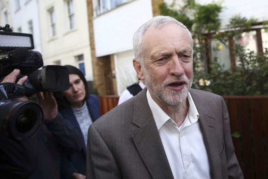 The leader of Britain's opposition Labour party, Jeremy Corbyn, leaves his home in London on June 28, 2016.