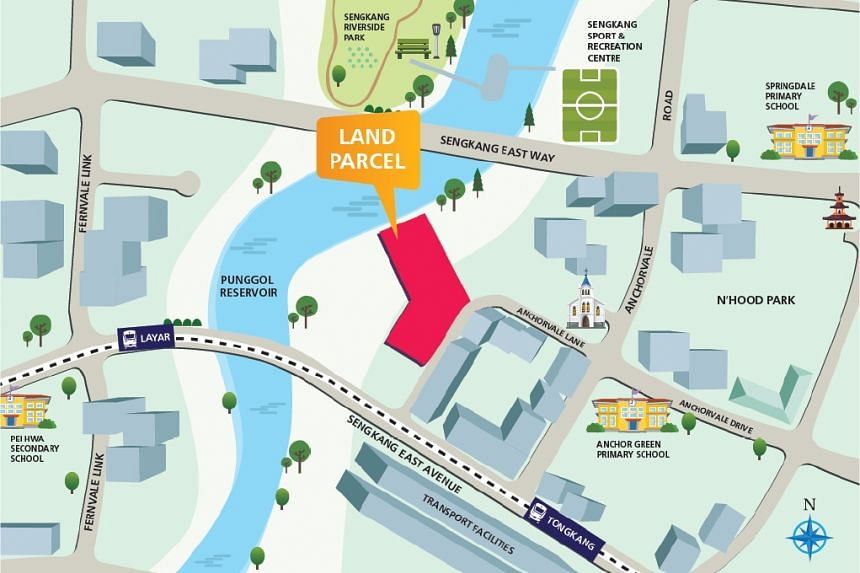 Location Plan for Land Parcel at Anchorvale Lane.
